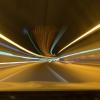 高速、ライト、トンネル